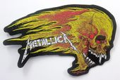 Metallica - 'Flaming Skull' Woven Patch